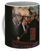 The Opera Orchestra Coffee Mug by Edgar Degas