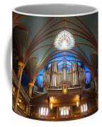 The Organ Inside The Notre Dame In Montreal Coffee Mug