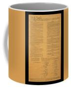 The Original United States Constitution Coffee Mug