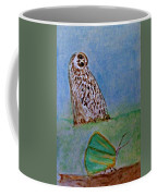 The Owl And The Butterfly Coffee Mug