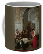 The Painter Luca Signorelli Standing By The Body Of His Rival's Dead Son Coffee Mug