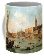 The Palace And The Molo From The Basin Of San Marco Coffee Mug by Francesco Guardi