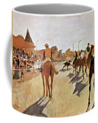 The Parade, Digitally Enhanced Highest Resolution,race Horses In Front Of The Tribune, Edgar Degas Coffee Mug
