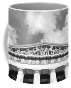 The Parthenon In Nashville Tennessee Black And White 2 Coffee Mug