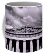 The Parthenon In Nashville Tennessee Black And White Coffee Mug