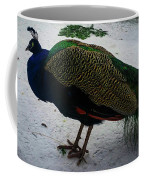 The Peacock In The Royal Garden In Winter Coffee Mug