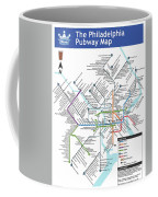 The Philadelphia Pubway Map Coffee Mug
