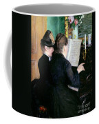 The Piano Lesson Coffee Mug by Gustave Caillebotte