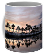 Reflecting Palms At The Pier 22 Coffee Mug