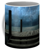 The Pier And The Storm Coffee Mug