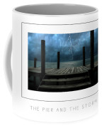 The Pier And The Storm Poster Coffee Mug