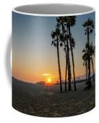 The Pier At Sunset Coffee Mug