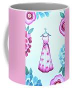 The Pink Floral Dress Coffee Mug