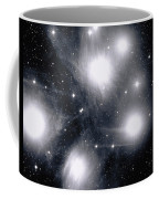 The Pleiades Star Cluster, Also Known Coffee Mug by Stocktrek Images
