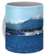 The Polar Resolution Oil Tanker Port Angeles Harbor Wa Coffee Mug