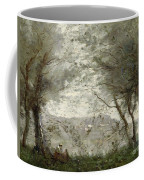 The Pond Coffee Mug by Jean Baptiste Corot
