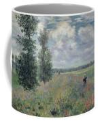 The Poppy Field Coffee Mug by Claude Monet