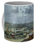 The Port Of Bordeaux Coffee Mug by Eugene Louis Boudin