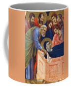 The Position Of Mary In The Tomb Fragment 1311 Coffee Mug