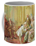 The Presentation Of The Young Mozart To Mme De Pompadour At Versailles Coffee Mug