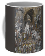 The Procession In The Streets Of Jerusalem Coffee Mug by Tissot