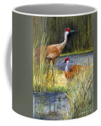 The Protector - Sandhill Cranes Coffee Mug