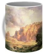 The Pueblo Of Acoma In New Mexico Coffee Mug by Thomas Moran