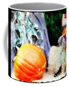 the Pumpkin and the Scarecrow Coffee Mug by Bill Cannon