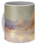 The Pyramids At Dusk Coffee Mug by Augustus Osborne Lamplough
