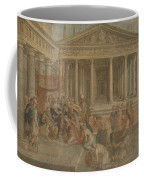 The Queen Of Sheba Before King Solomon Coffee Mug
