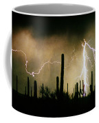 The Quiet Southwest Desert Lightning Storm Coffee Mug