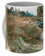 The Raging River-acrylic Pour#8 Coffee Mug