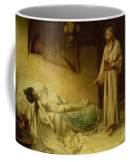 The Raising Of Jairus's Daughter Coffee Mug by George Percy Jacomb-Hood