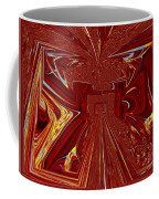 The Red Palace In Abstract Coffee Mug