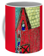 The Red Shed Club House That Dad Built Coffee Mug
