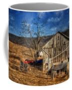 The Red Truck By The Barn Coffee Mug