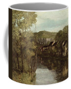 The Reflection Of Ornans Coffee Mug by Gustave Courbet
