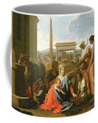 The Rest On The Flight Into Egypt Coffee Mug by Nicolas Poussin