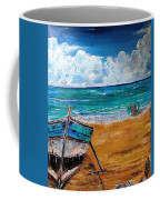 The Resting Boat And The Beach Holidays Coffee Mug