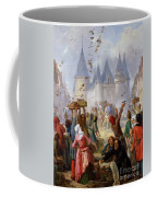 The Return Of Saint Louis Blanche Of Castille To Notre Dame Paris Coffee Mug
