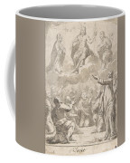 The Risen Christ Between The Virgin And St. Joseph Appearing To St. Peter And Other Apostles Coffee Mug