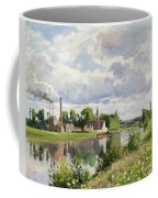 The River Oise Near Pontoise Coffee Mug by Camille Pissarro