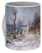 The Road To Giverny In Winter Coffee Mug by Claude Monet