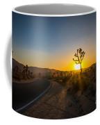 The Road To Joshua Tree At Sunset Coffee Mug