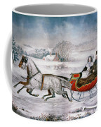 The Road-winter, 1853 Coffee Mug