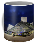 The Rock And Roll Hall Of Fame At Dusk Coffee Mug