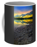 The Rockies Reflected At Lake Annettee Coffee Mug
