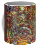 The Rose Path Giverny Coffee Mug by Claude Monet