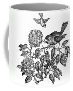 The Roses And The Sparrow Coffee Mug