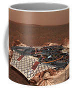 The Rovers Landing Site, The Columbia Coffee Mug by Stocktrek Images